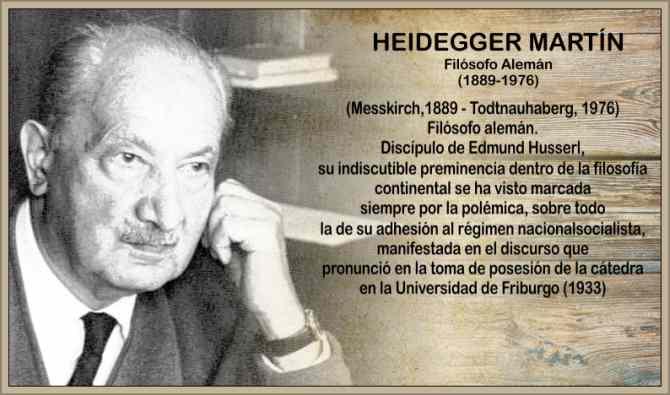 Heidegger Martin filosofo alemán