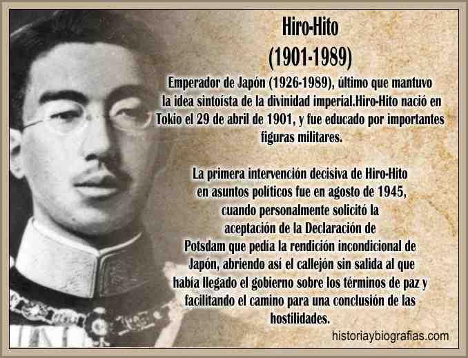 Biografia de Hirohito Emperador de Japon Rendicion de Japon Guerra