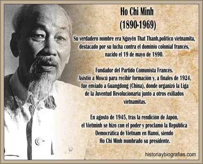 Biografia de Ho Chi Minh Lider Guerrillero Vietcong Vietnam del Norte