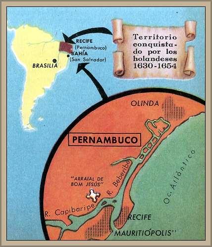 mapa holanda en brasil