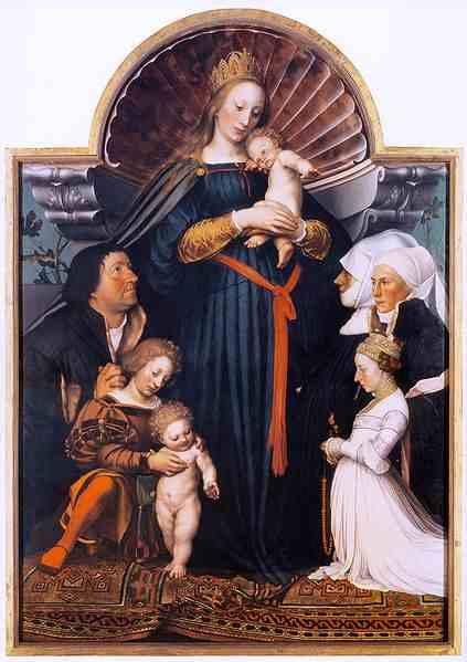 obra de hans holbein La Virgen del burgomaestre Meyer