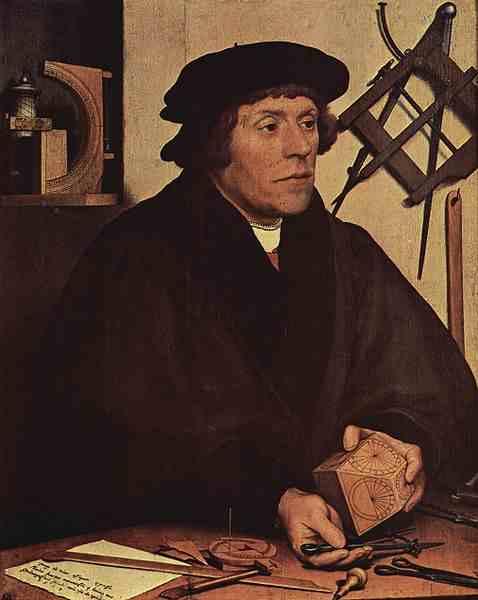 obra de hans holbein  Retrato de Nicolas Kratzer