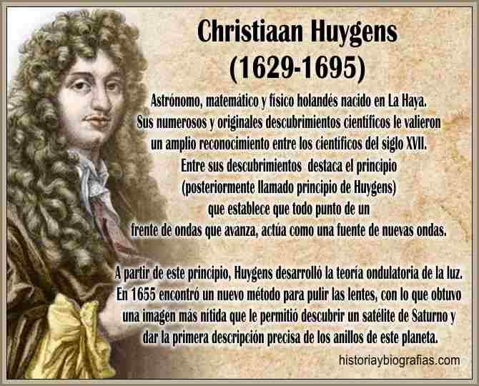 Huygens Chistiaan Inventor del Reloj a Pendulo Biografia y Obra ...