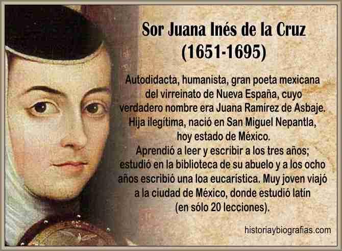 Biografia de Sor Juana Ines de la Cruz