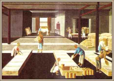 obreros de la seda