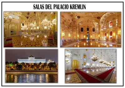 Interiores del Palacio Kremlin en Rusia