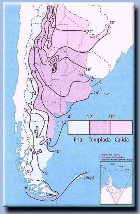 isobara mapa de argentina