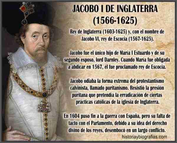 rey jacobo I de Inglaterra Estuardo
