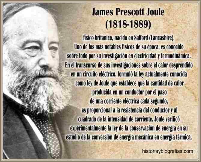 Biografia de Joule James Prescott