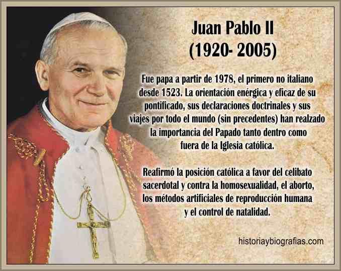 Biografia de Juan Pablo II Características de su Pontificado