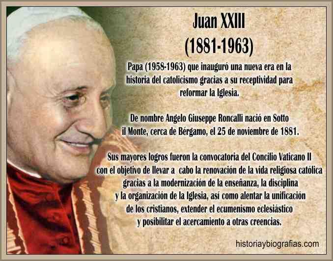 Biografia de Juan XXIII Papa Bueno Vida y Obra Pontificia