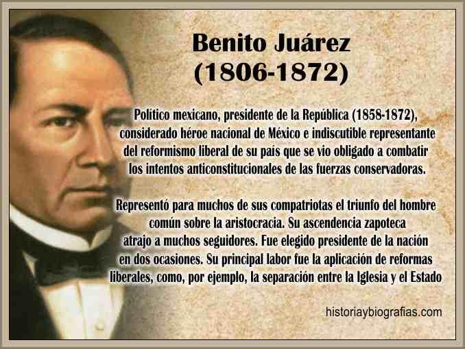 Biografia de Juarez Benito Cronologia de su Vida Resumen