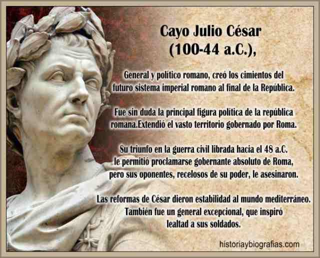 Biografia de Julio César Obra Política Cronologia y Asesinato