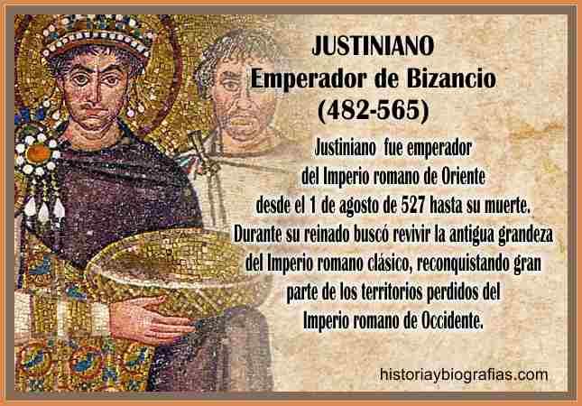 biografia justiniano emperador  de oriente