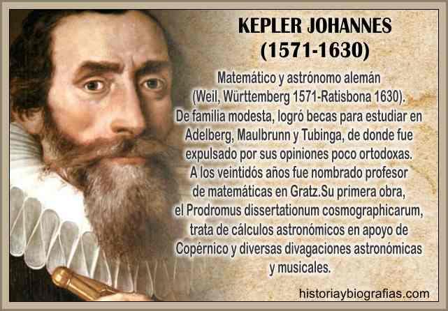 biografia de johannes kepler