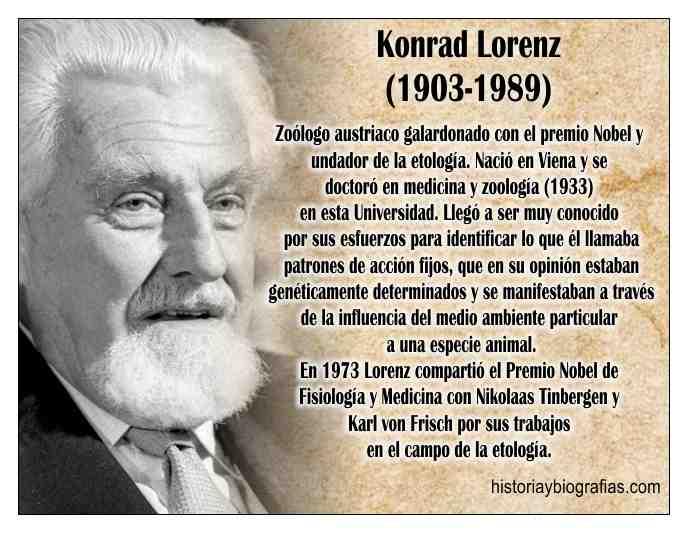Biografia de Lorenz Konrad Fundador de la Etologia