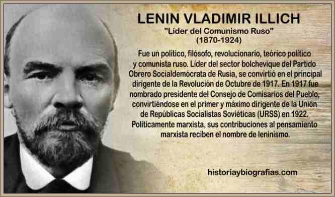 Biografía de Lenin Causas de su Muerte Revolucionario Ruso