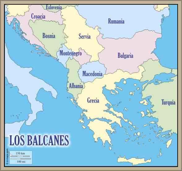 mapa de los balcanes