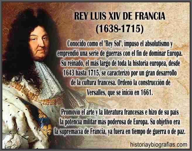 Biografia de Luis XIV de Francia Rey Sol El Estado Soy Yo Resumen ...