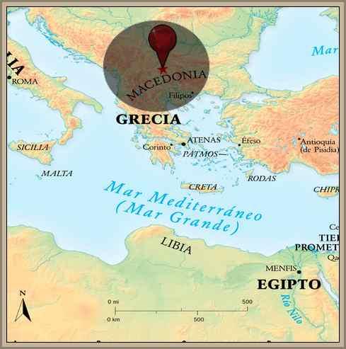 mapa macedonia norte de grecia