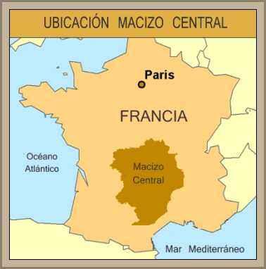 mapa ubicacion macizo central frances