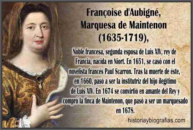Biografia de Marquesa de Maitenon
