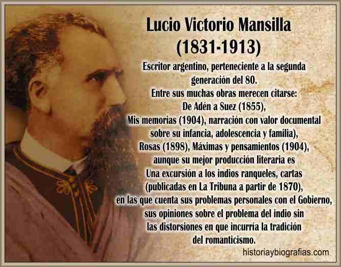 Biografia de Luci V. Mansilla y Obra LIteraria