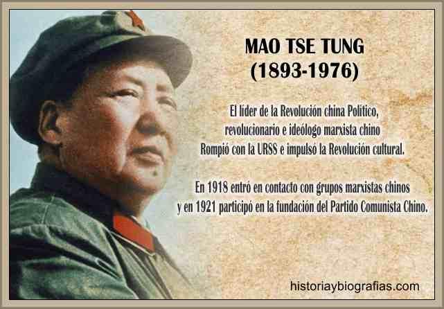 Biografia de Mao Tse Tung Revolucionario Socialista Chino Su Gobierno