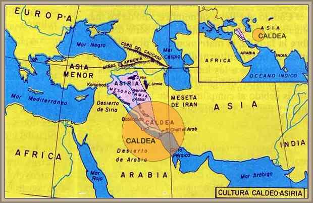mapa de caldea historia