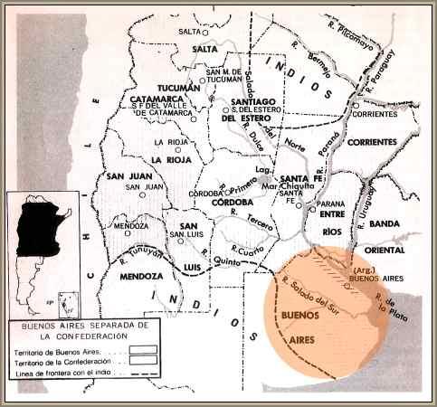 mapa de la confederacion argentina