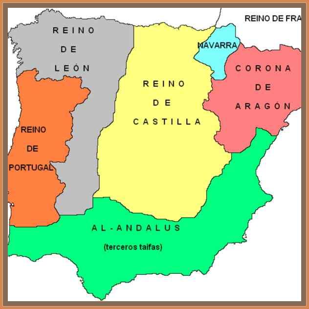 mapa reinos cristianos