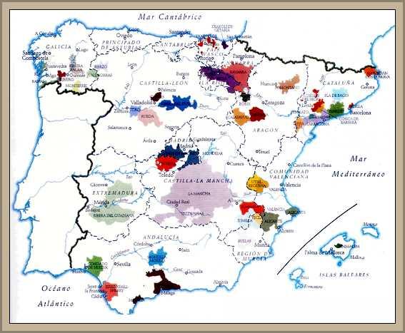 mapa regiones viticola de españa