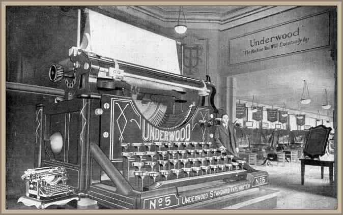 maquina de escribir para publicidad