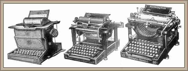 evolucion maquina de escribir remington