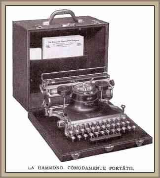antigua maquina de escribir hammond