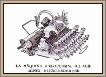 antigua maquina de escribir liviana