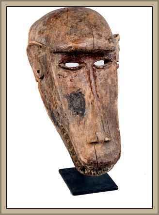 arte de africa cara de mono