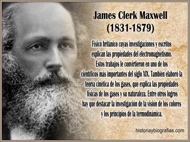Biografia de Maxwell James Clerk:Obra Sobre Electromagnetismo ...