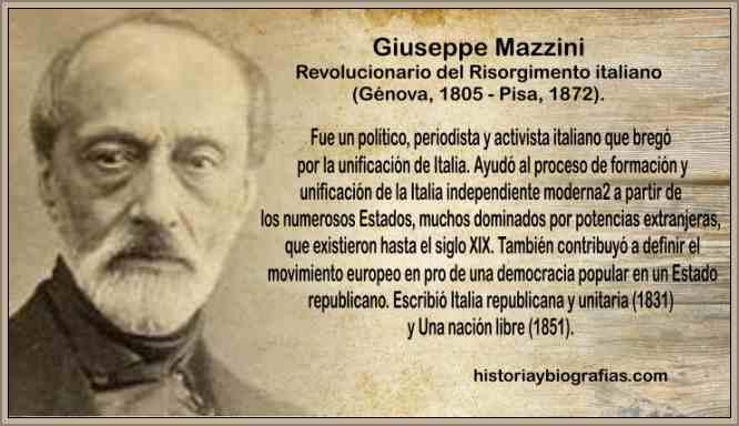 biografia de giuseppe mazzini