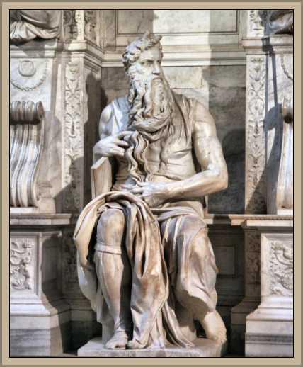 escultura de miguel angel Moises