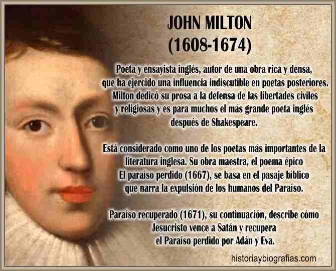 Biografia de Milton John Vida y Obra Literaria