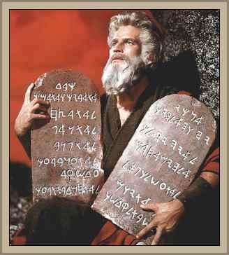 moises con los mandamientos