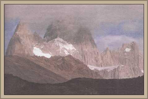 Monte Fritz Roy en la Patagonia