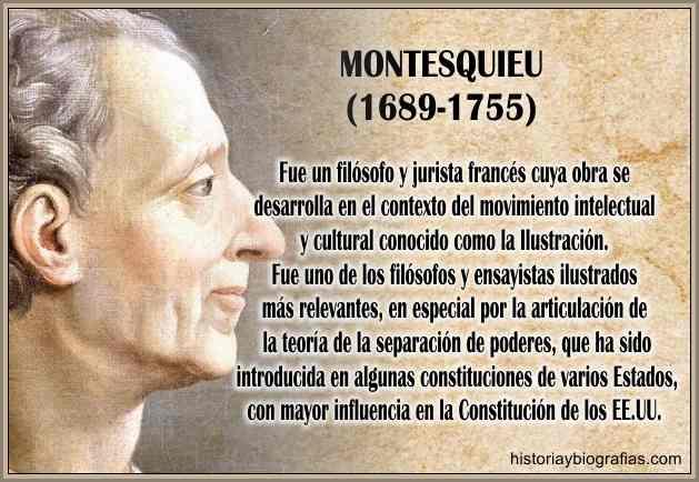 biografia de Montesquieu filosofo ilustracion