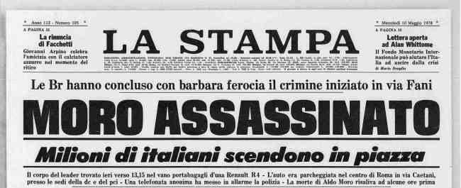 terrorismo en italia asesinato de aldo moro