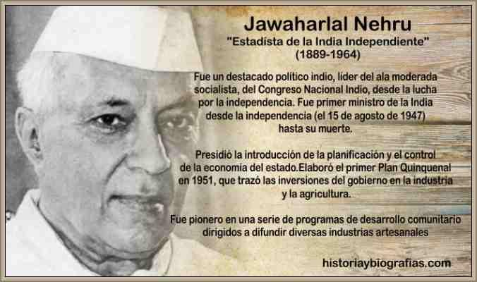 Biografia de Nehru Jawaharlal – Proceso de Independencia de la India
