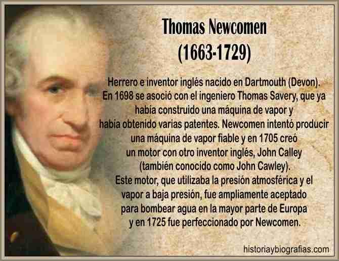 Biografia de Newcomen Thomas y su maquina a vapor