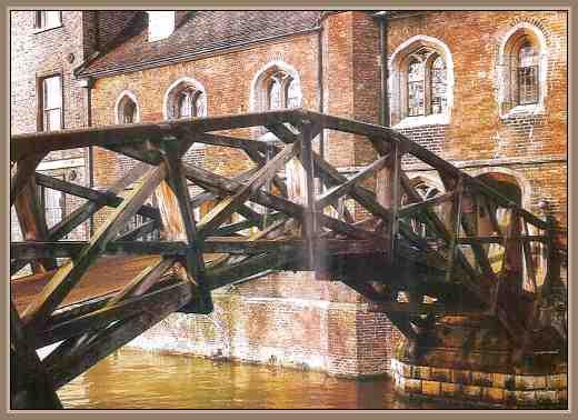 puente de madera de newton