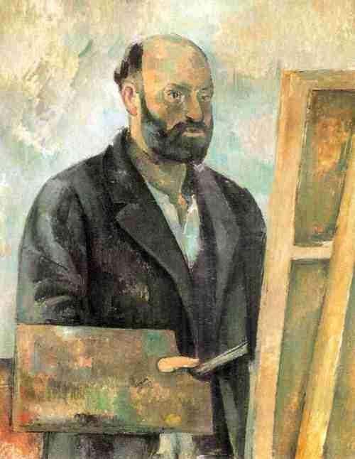 Obra artistica de Cezanne Autoretrato