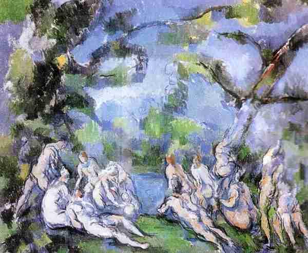 Los Bañistas: Obra artistica de Cezanne Paul
